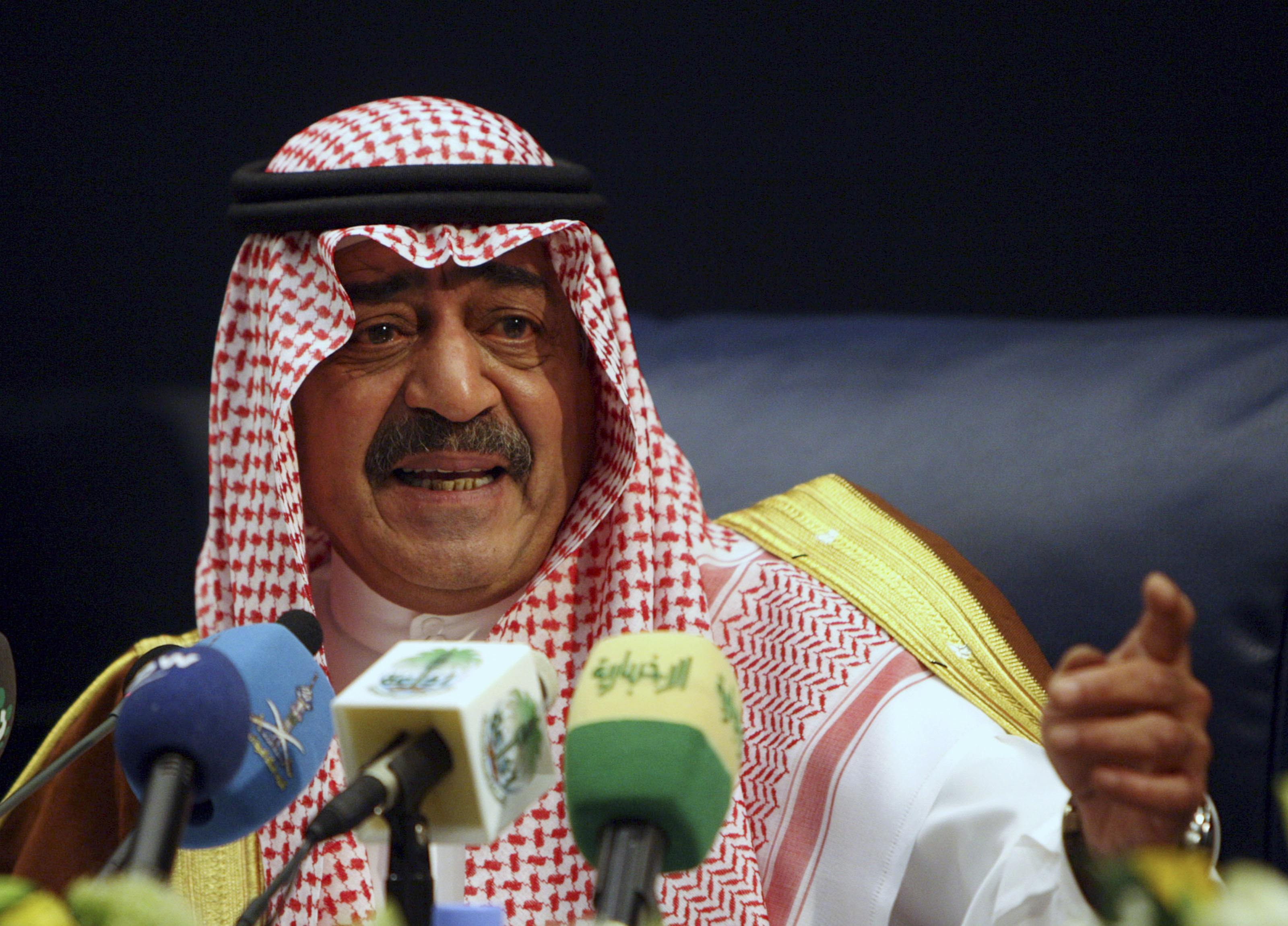 File picture shows then Saudi intelligence chief Prince Muqrin bin Abdul-Aziz, brother of Saudi King Abdullah, gesturing during a news conference in Riyadh
