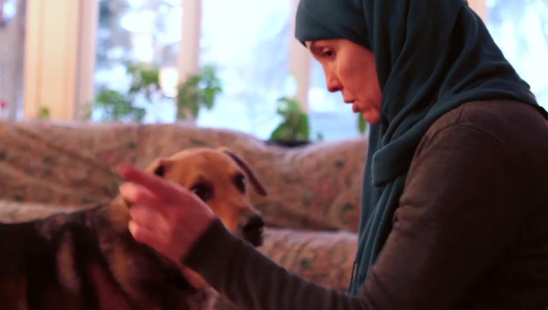 Dr. Ingrid Mattson with her dog Ziggy.