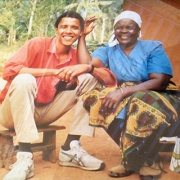 Obama with his grandmother in Kenya. Photo credit:  Kiratiana Freelon