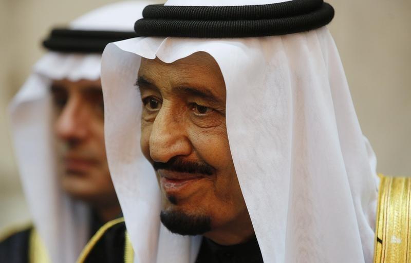 Saudi Arabia's King Salman is seen during U.S. President Barack Obama's visit to Erga Palace in Riyadh, January 27. Jim Bourg / Reuters
