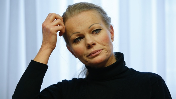 Kathrin Oertel, who has resigned as head of Pegida. Fabrizio Bensch / Reuters.