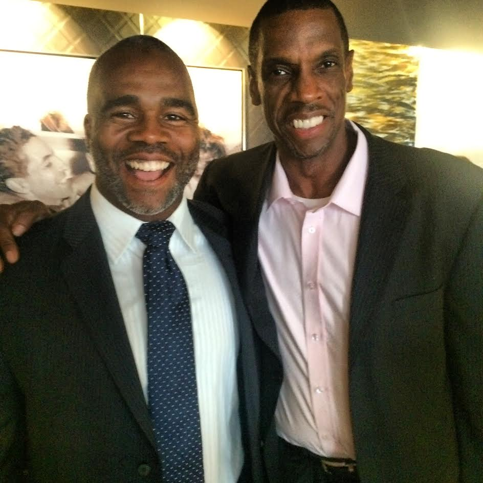 "Ibrahim Abdul-Matin (left) with Dwight ""Doc"" Gooden."