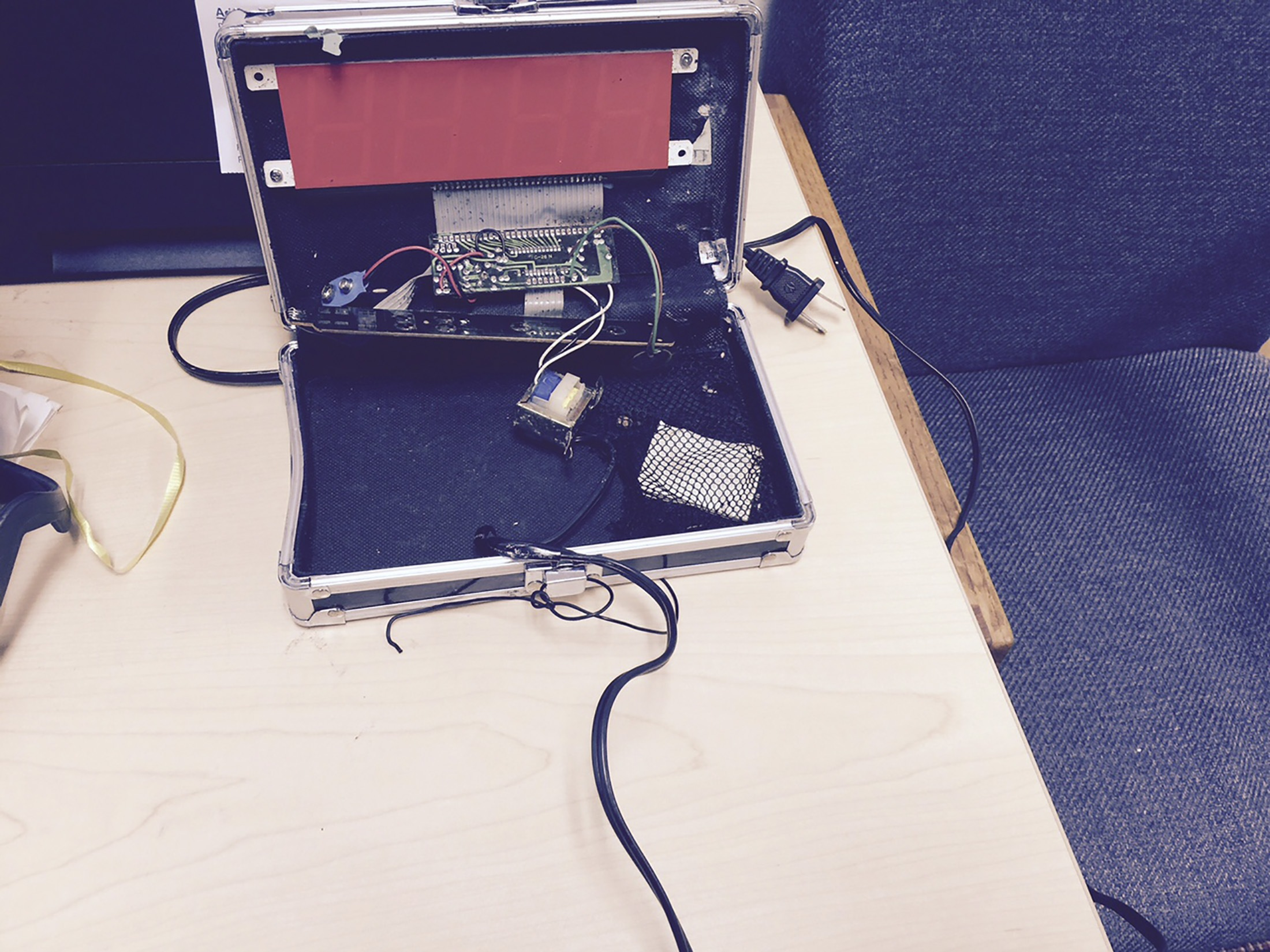 A homemade clock made by Ahmed Mohamed, 14, is seen in an undated picture released by the Irving Texas Police Department September 16. Irving Texas Police Department/Handout via Reuters