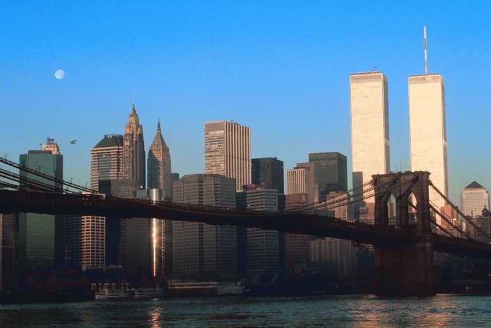 The New York City skyline before 9/11.  Photo credit:  Clipart.com