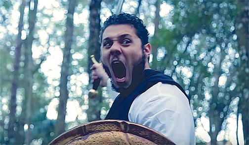A stillshot from the Salahadin promotional clip.