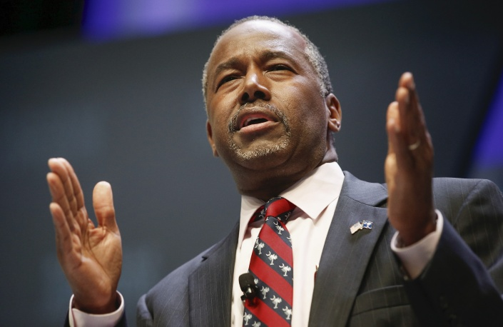 Republican candidate Dr. Ben Carson speaks during the Heritage Action for America presidential candidate forum in Greenville, South Carolina, September 18, 2015. Chris Keane / Reuters