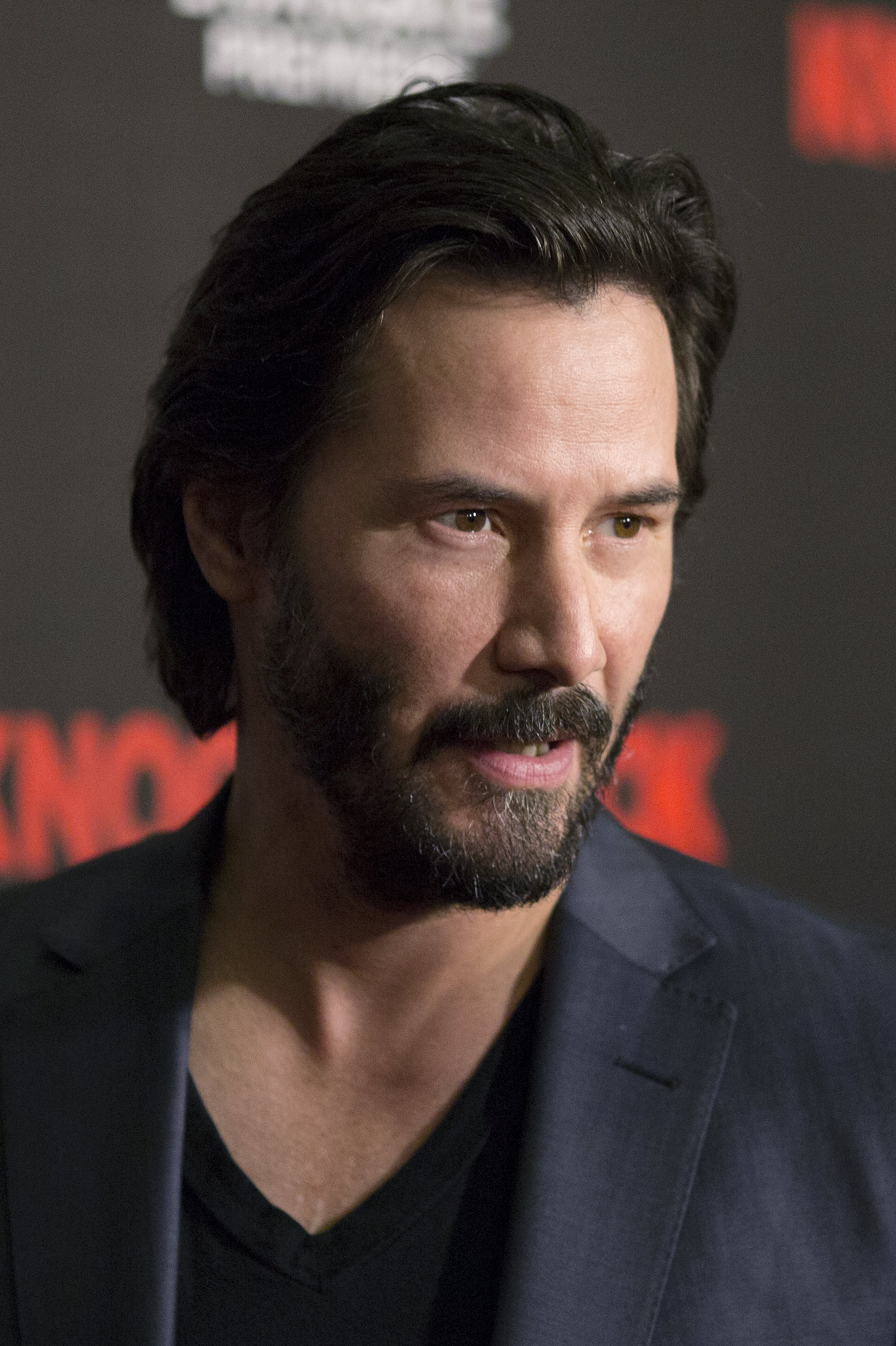 """ActorKeanuReevesarrives for the Los Angeles special screening of """"Knock Knock"""" in the Hollywood section of Los Angeles, California October 7, 2015. David McNew / Reuters"""