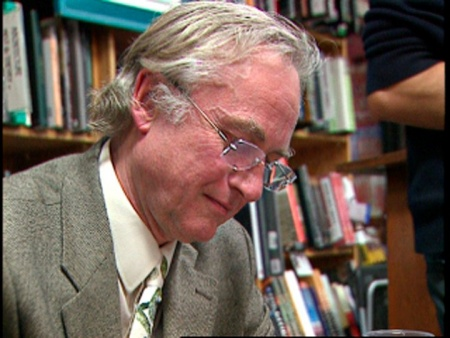 "Richard Dawkins, seen here at a book signing, is the author of ""The God Delusion."" Religion News Service file photo courtesy of Religion & Ethics NewsWeekly"