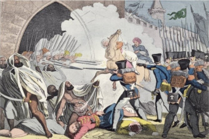 coller_Fighting at the Gates of Algiers_by anonymous