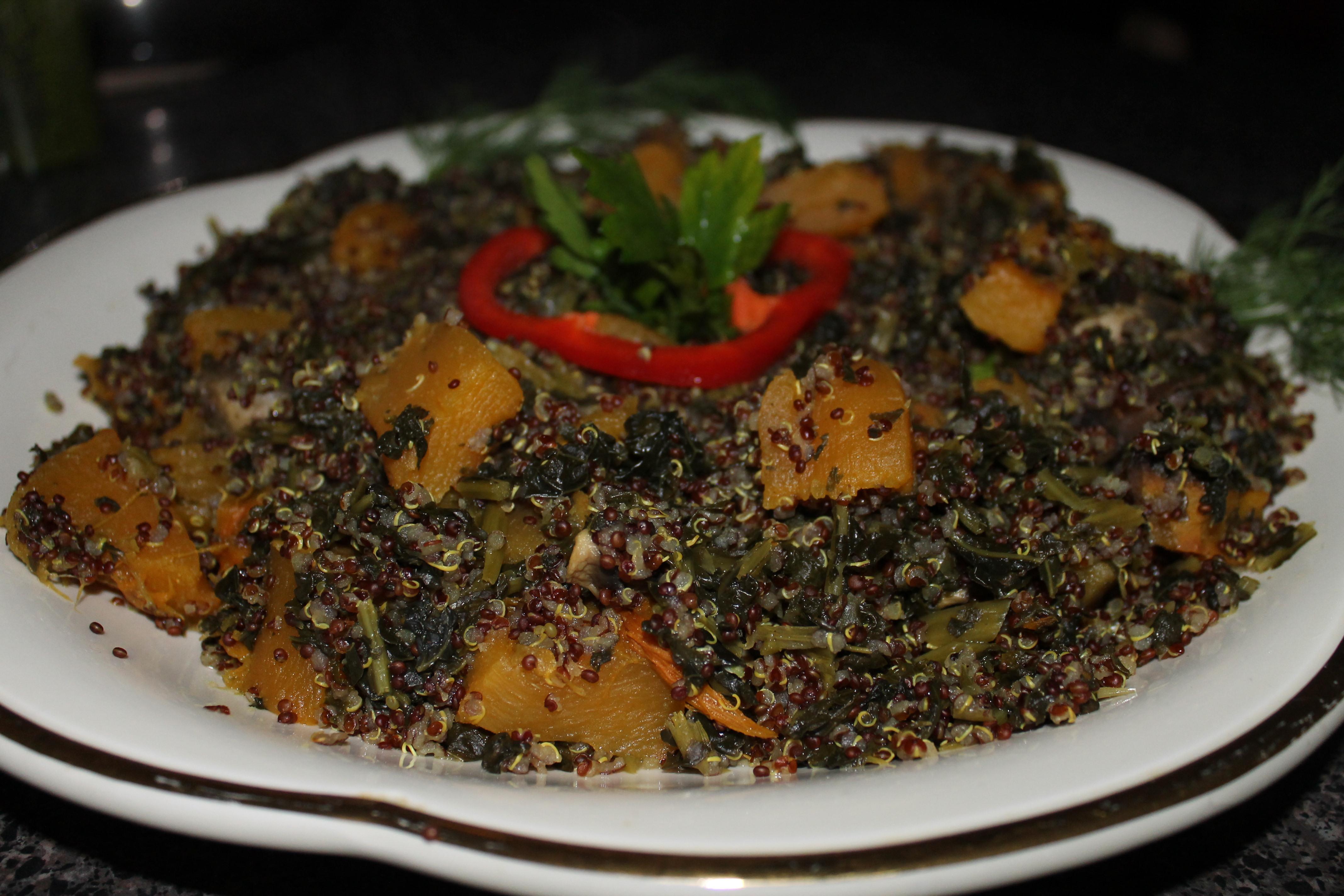 Pumpkin Quinoa. Photo credit Noor Salem.
