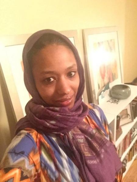 Photo caption: Dr. Larycia Hawkins wearing a hijab. Facebook photo