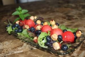 August 9_Watermelon Mint Berry Salad