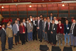 Meeting at parliament, NSW-Australia: Photo with Australian MP's and community members. Mr. Jihad Dibb, shadow education minister is in the centre, (1st row) 7th from (L) Dr. Nakadar on his ( R) and Mr. Ali Quraishi on his (L).